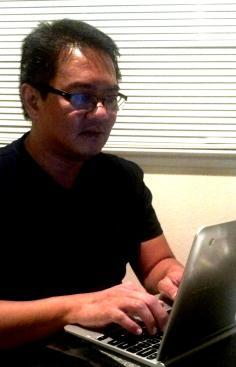 Writing my blog on a Google ChromeBook.