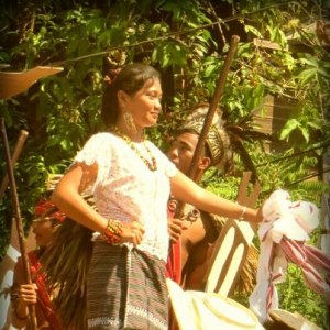 Miss Manabo during the Kawayan Festival
