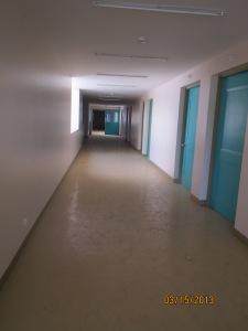 A dimly lit hallway