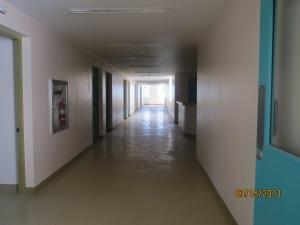 dimly lit corridor