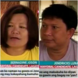 Lagayan Mayoralty Candidates Joson and Luna trading barbs during a shooting incident.