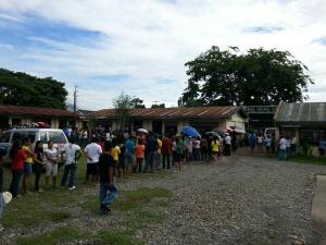 Long line to the Polling Places. James Beltran