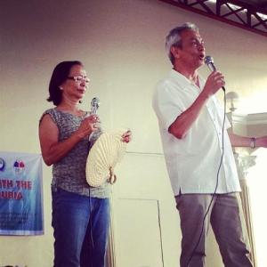 @jimparedes hosting the first Peoples' Meeting de Avance in Abra.