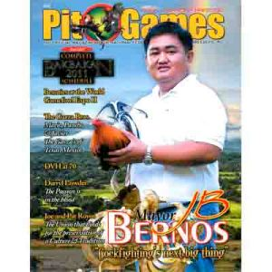 "Mayor JB Bernos: ""Cockfighting's next big thing"" on the cover of Cockhouse Magazine"
