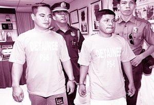 Alleged Assasins, Lindon Alsate Ronald Bolor. Picture by Boy Santos