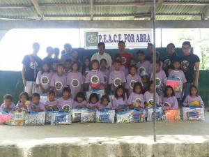 P.E.A.C.E. For Abra reach out to kids in Lagayan