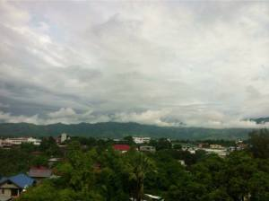 Calm after the storm. A bird's eye view of Bangued. Photo by Loribee Ann Bringas Sevilla