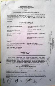 Minutes Page 1  32nd regular Meeting re Construction of APH funded from Abra-Landbank Loan