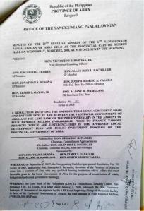 Page 1 Abra-Landbank Omnibus Term Loan Agreement