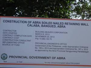 Contruction of the Retaining Wall worth P14 Million