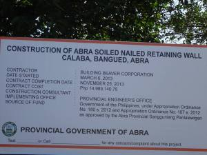 Contruction of the Retaining Wall worth P14 Million