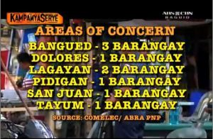 Barangay Elections 2013 Areas of Concern