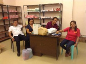 Supply Room. Gov. Takit and wife Ruby