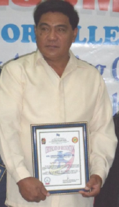 File Photo: Mayor Christopher Millare Sr. of Licuan-Baay, Abra was honored as the Best Police Community Relations Local Chief Executive of the Cordillera Administrative Region on August 1, 2011 at Camp Bado Dangwa, La Trinidad, Benguet