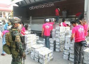 SAF Members guarding official ballots (abrenian.com)