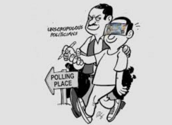 Vote Buying in the Philippines (Cartoon by Roni S.)