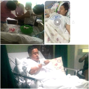 Atty. Allen Brix Bachiller and brother Angelo recuperating in a hospital outside of Abra. Photo by Anonymous